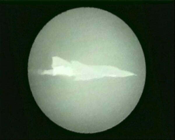 Image of the GSN AIM-132 ASRAAM target aircraft of the F-4