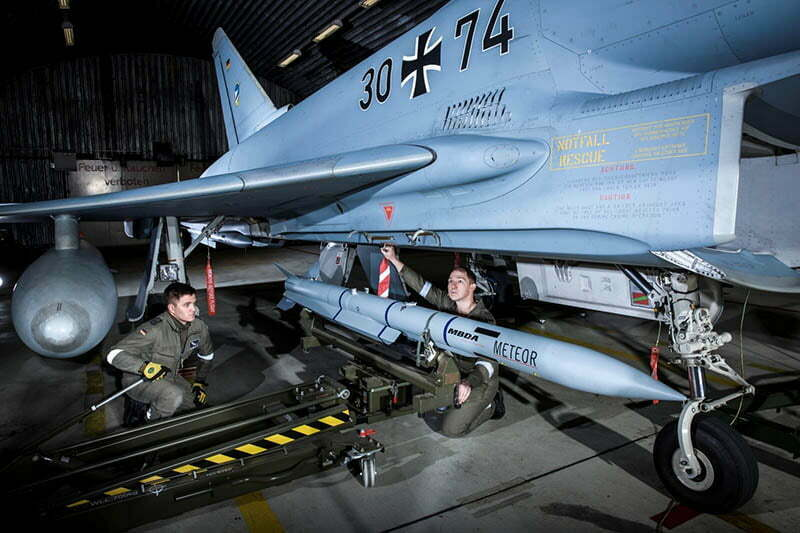 "Suspension on the ""Eurofighter"" of the German Air Force SD long range Meteor."