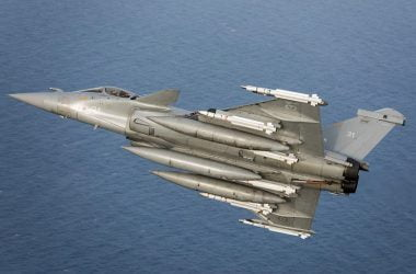 Rafale M, equipped with four MICA EM and two MICA IR.