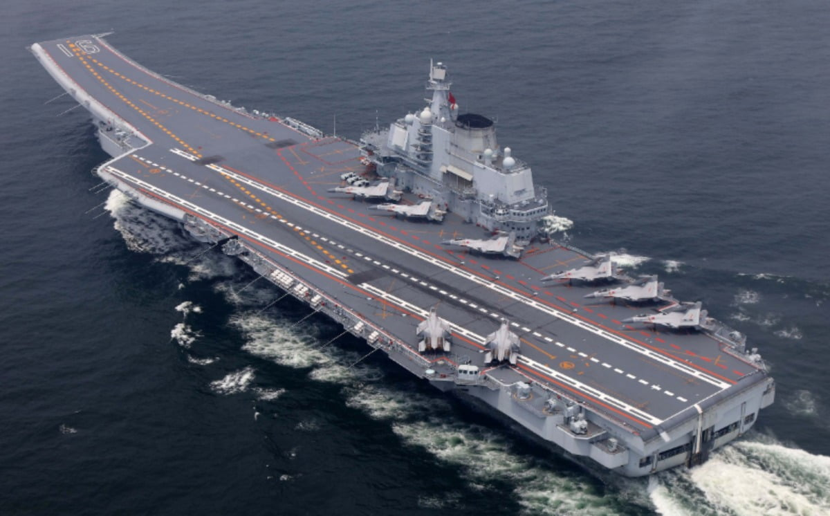 chinese navy aircraft carrier