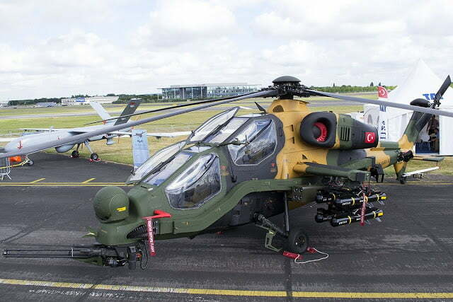 turkish T-129 attack helicopter