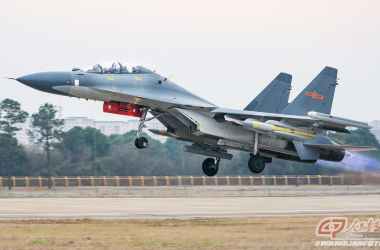 Su-30MKK armed with a pair of YJ-91 anti-radiation missile