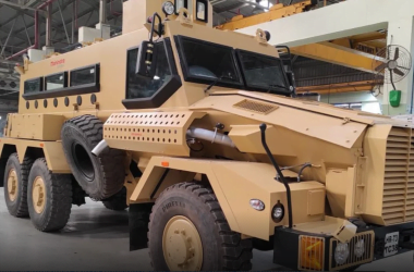 Mahindra armoured vehicle
