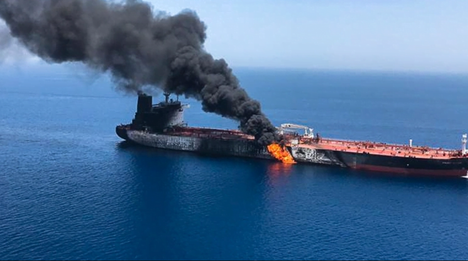 iran hit israel ship