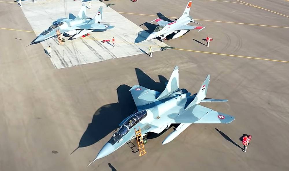 egyptian F-16 and MiG-29m