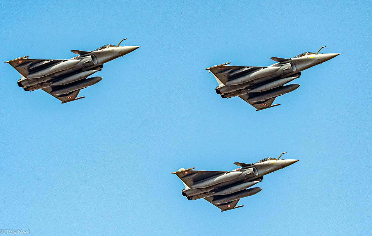 Indian air force Rafale fighter aircraft