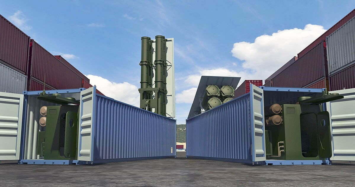 Club-K container missile ship