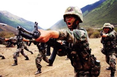 chinese soldiers indo-china border