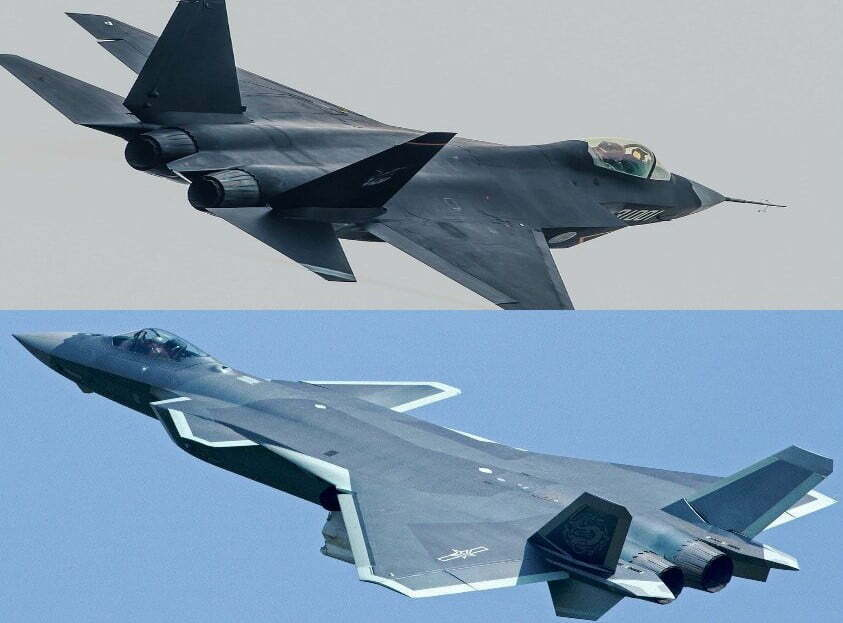 j-31 and J-20 vs F-35 and F-22