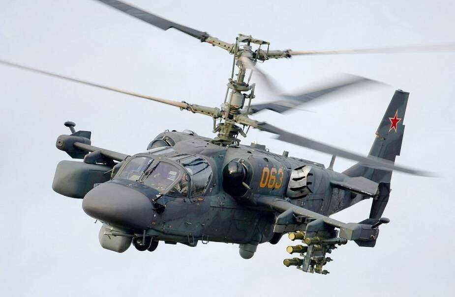 Ka-52m attack helicopter