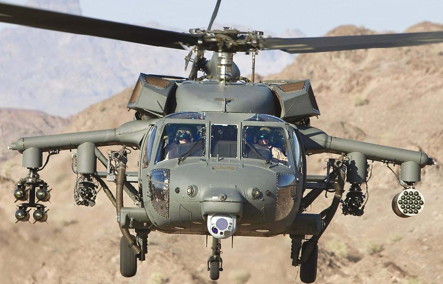 MH-60L DAP armed helicopter